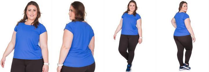 Bata Plus Size Azul de Tecido Dry Janfer
