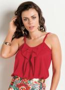 Blusa Vermelha com La�o Frontal