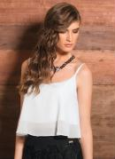 TOP CROPPED CHIFFON (BRANCA)