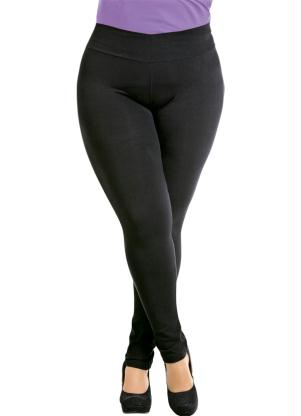 Cal�a Legging (Preta) Plus Size