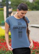 T-Shirt Azul Estampa Cruz