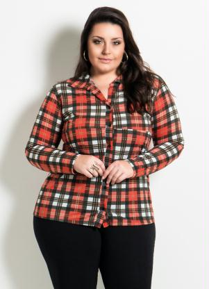 Camisa (Xadrez) Plus Size