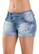 Short Feminino Jeans Azul
