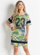 Vestido T-Shirt Tropical
