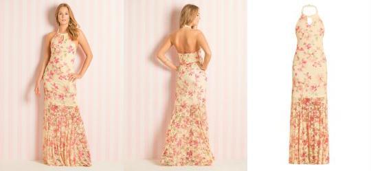 Vestido Longo Frente �nica Floral