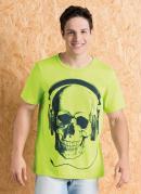 Camiseta Verde com Decote Redondo