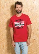 Camiseta Vermelha com Estampa Ocean Urban