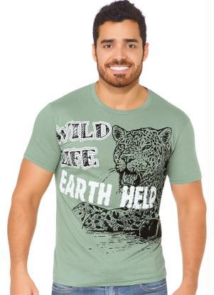 Camiseta (Verde) com Estampa