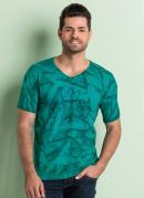 Camiseta Estampada Manga Curta Turquesa
