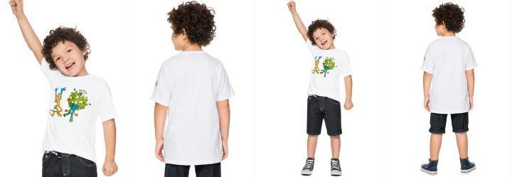 Camiseta Olimp�adas Branco Brasileirinhos