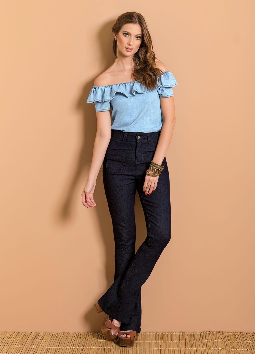 Black Friday De Lingerie >> Blusa Ciganinha Jeans - Posthaus