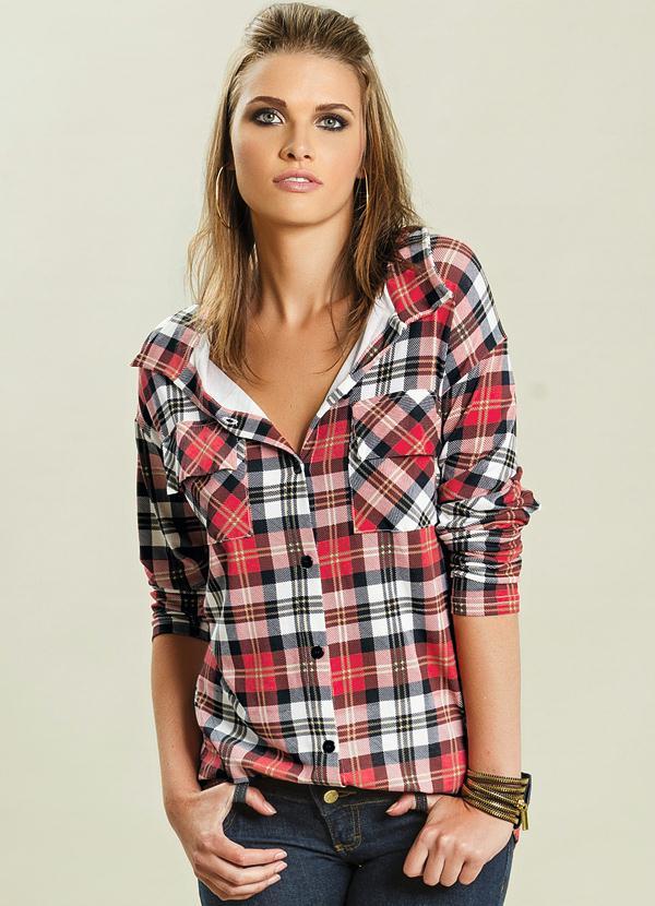 Camisa Xadrez Manga Longa - Quintess