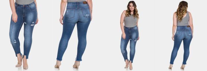 737ef7042a Moda feminina calça size plus jeans feminina skinny azul - Multiplace