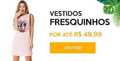 Vestidos até R$49,99